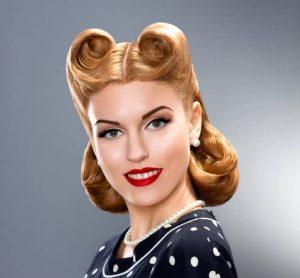 peinado pin up media cabellera