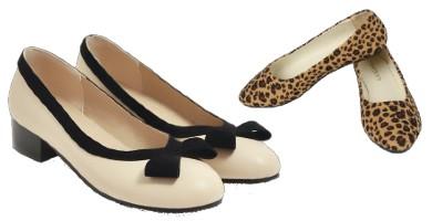 zapatos pin up bajos y planos