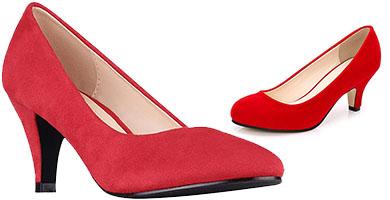 zapatos pin up rojos