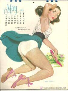 Calendario con una pin up girl